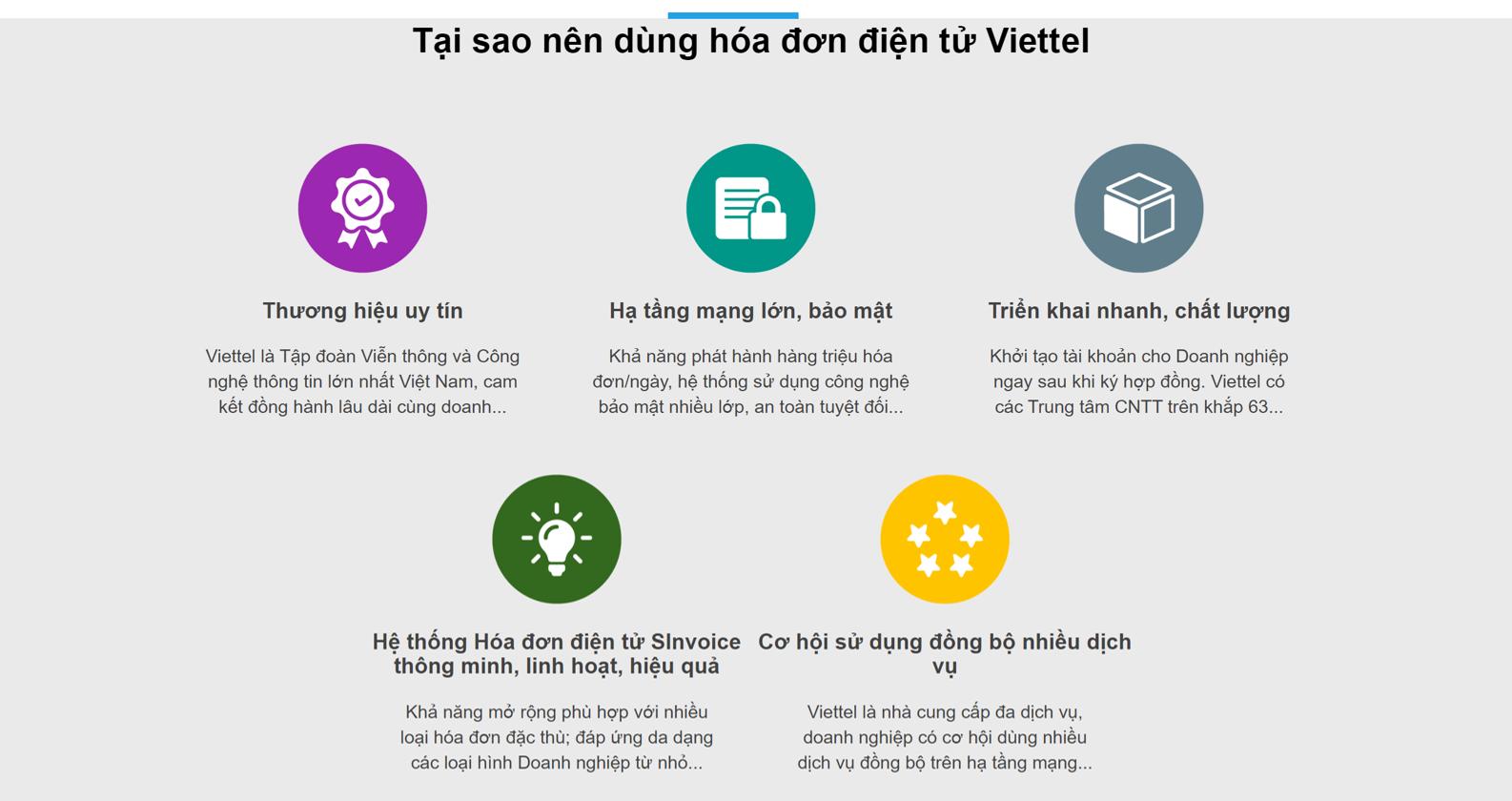 Phần mềm hóa đơn điện tử Viettel Sinvoice