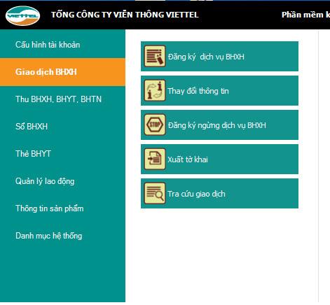 Chữ ký số Viettel Bảo hiểm xã hội BHXH