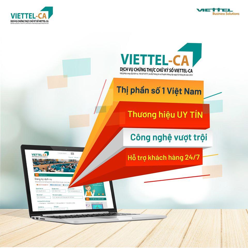 Báo giá chữ ký số viettel-ca